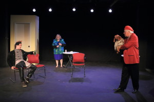 main piece I acted in (with Christi Moore and Garry Peters) (photo credit: Kenneth B. Gall)