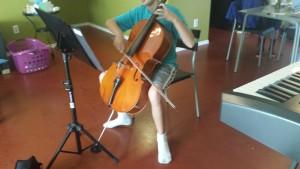 cello practice before concert