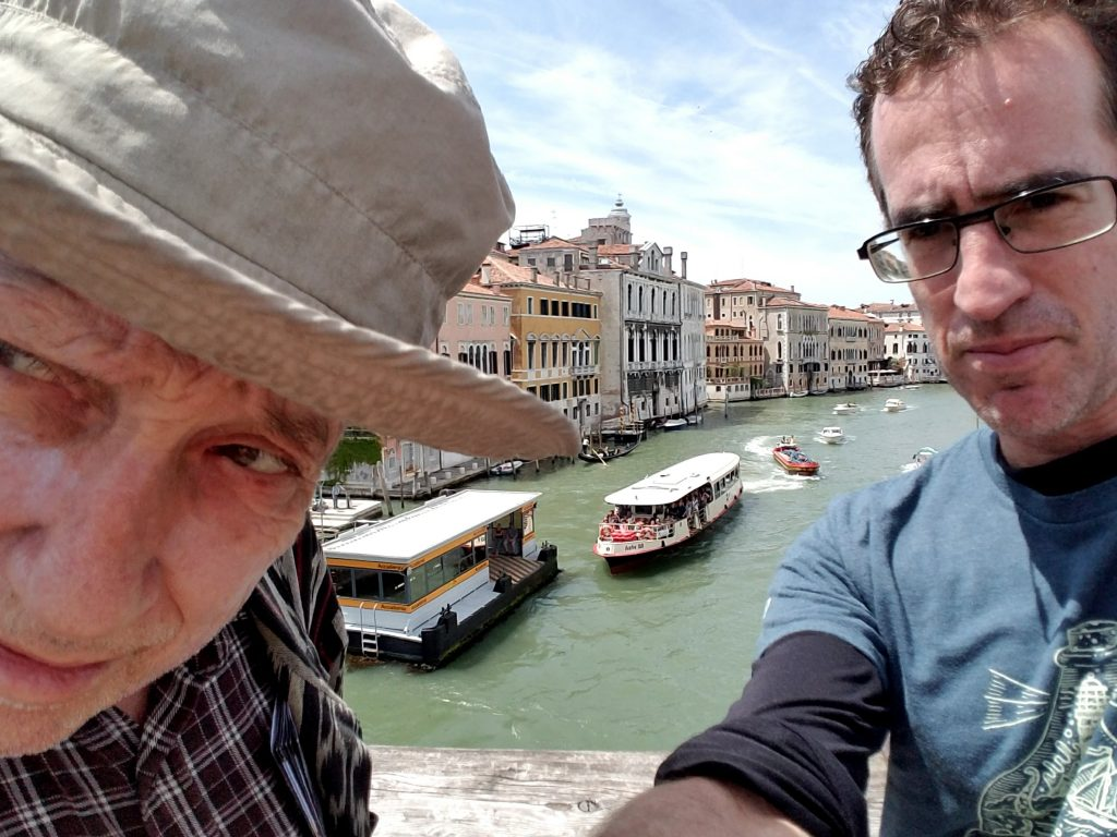 Dad and Max Venice selfie